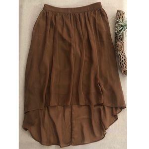 F21 Asymetrical High Low Midi Skirt sz M